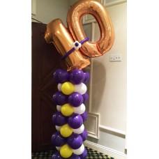 """Напольная композиция из воздушных шаров на день рождения """"В десятку!"""""""