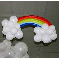 Радуга в облаках из шаров