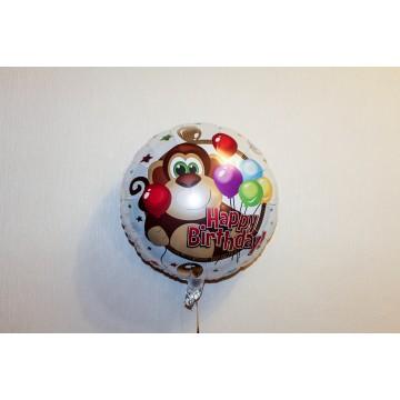 Круг Happy Birthday обезьянка 46см.