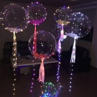 Bubble шар 61см на светящейся гирлянде