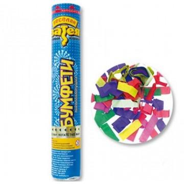 Хлопушка 30см Разноцветная бумага