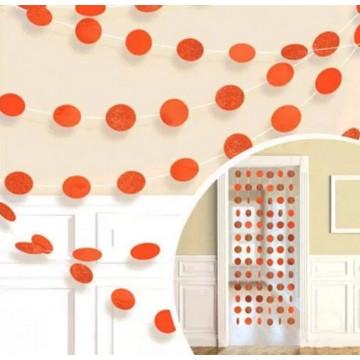 Гирлянда круги оранжевая
