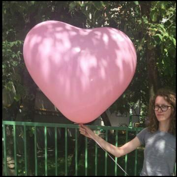 Большой шар сердце 110 см