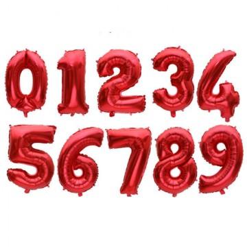 Цифры красные 102см.