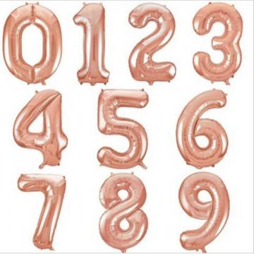 Цифры розовое золото 102см.
