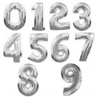 Цифры серебро 102см.