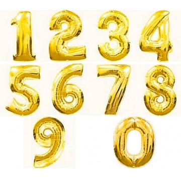 Цифры золото 102см.